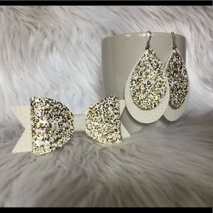 Mommy and me bow and earring set